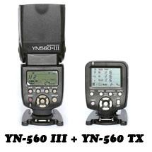 Вспышка Yongnuo YN-560 III + Контроллер YN-560 TX для Nikon