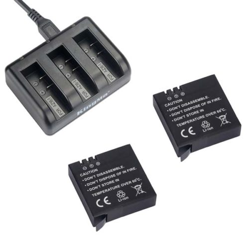 Kingma set Xiaomi YI 2 charger + 2 batteries