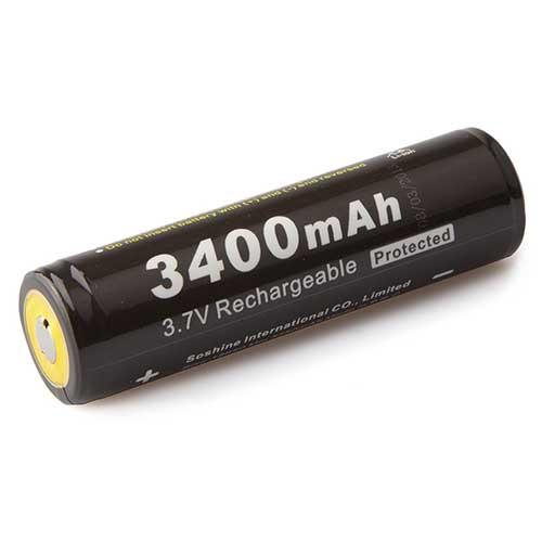 Аккумулятор Soshine 18650 3,7В 3400мАч защищенный