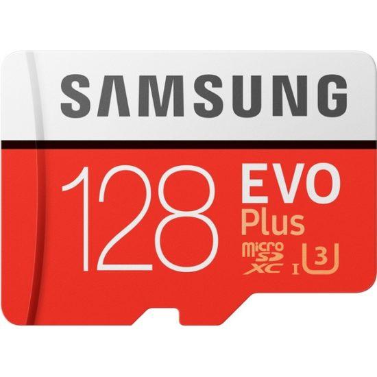 Карта памяти micro SDXC 128Gb Samsung EVO Plus V2 UHS-I U3 + ADP (100/60 Mb/s)