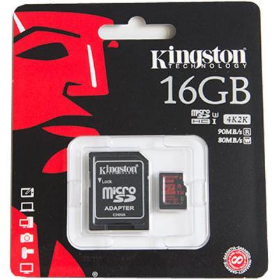 Карта памяти micro SDHC 32Gb Kingston Class 10 UHS-I U3