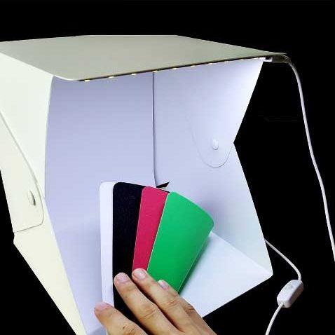 Фотобокс с регулируемой LED подсветкой для предметной съемки 24 х 24 см