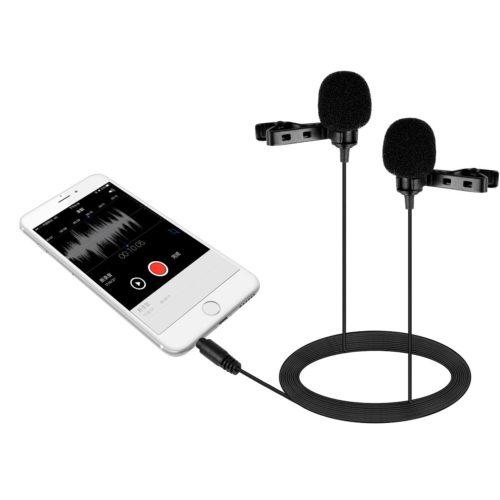 Двойной петличный конденсаторный микрофон BOYA BY-LM400