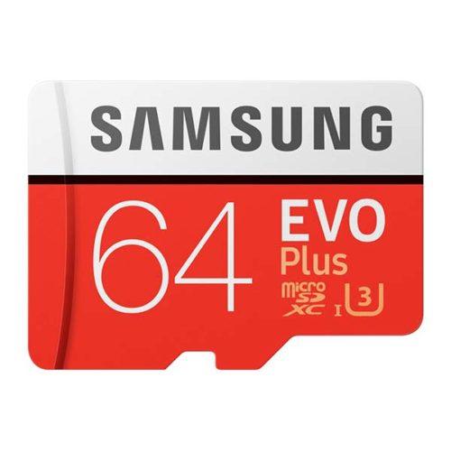 Карта Памяти micro SDXC 64Gb Samsung EVO Plus V2 UHS-I U3 + ADP (100/60 Mb/s)