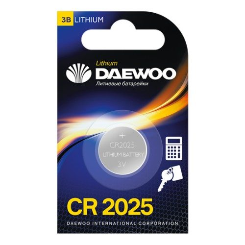 Батарейка литиевая DAEWOO CR2025 дисковая