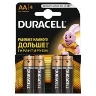 Батарейки DURACELL LR6 (AA) 4 шт в блистере