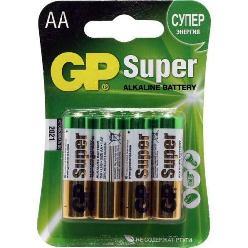Батарейки GP LR6 (AA) Super Alkaline 4 шт в блистере