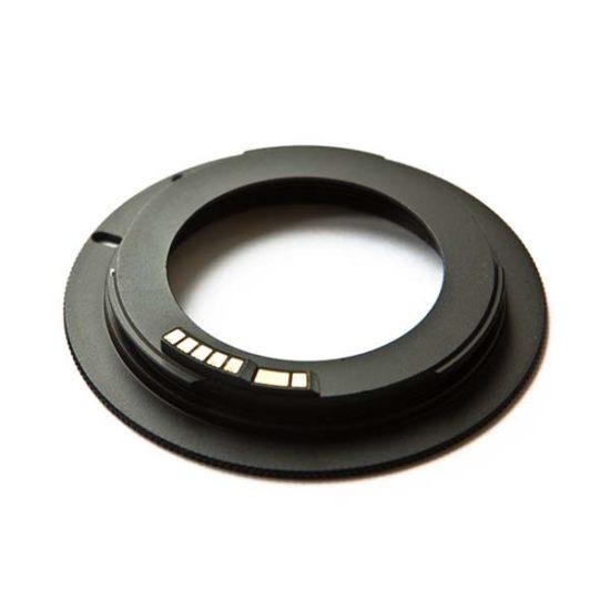 Переходное кольцо M42 - Canon EOS черное с чипом