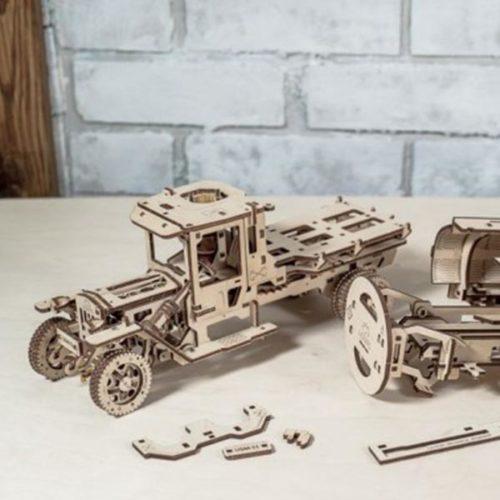 Деревянный 3D конструктор UGEARS Автоцистерна-3