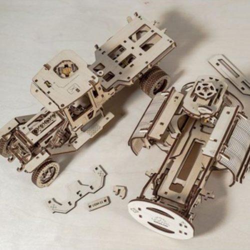 Деревянный 3D конструктор UGEARS Автоцистерна-4