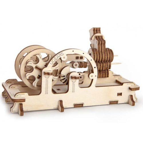 Деревянный 3D конструктор UGEARS Пневматический двигатель
