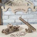 Деревянный 3D конструктор UGEARS Пожарная лестница-3