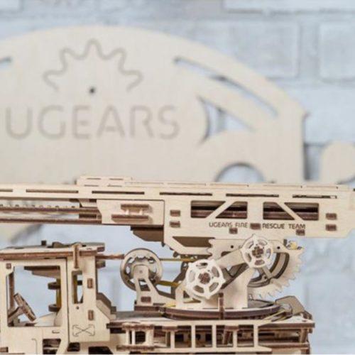 Деревянный 3D конструктор UGEARS Пожарная лестница-4