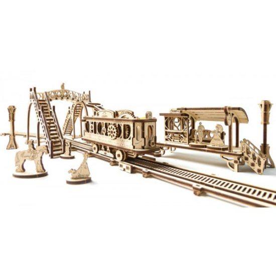 Деревянный 3D конструктор UGEARS Трамвайная линия