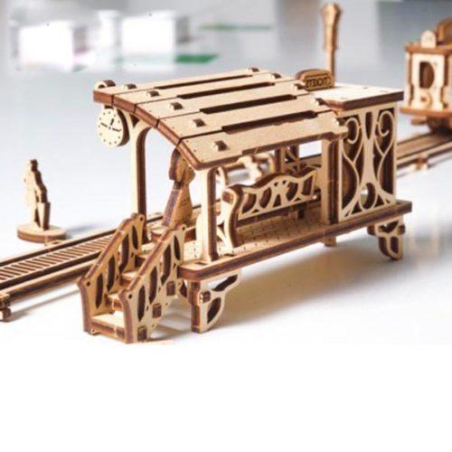 Деревянный 3D конструктор UGEARS Трамвайная линия-3