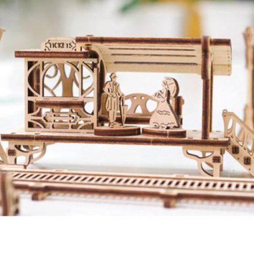 Деревянный 3D конструктор UGEARS Трамвайная линия-5