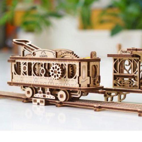 Деревянный 3D конструктор UGEARS Трамвайная линия-6
