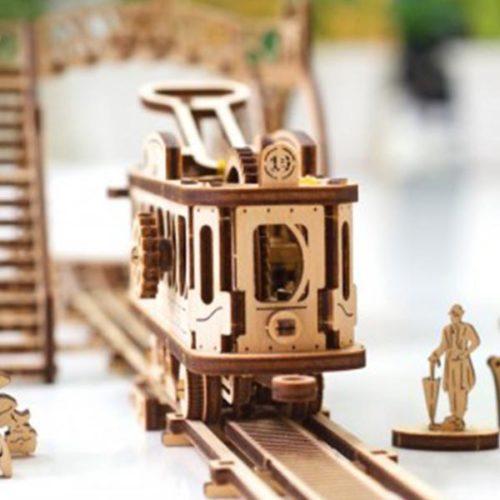 Деревянный 3D конструктор UGEARS Трамвайная линия-7