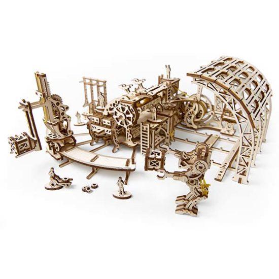 Деревянный 3D конструктор UGEARS Фабрика роботов