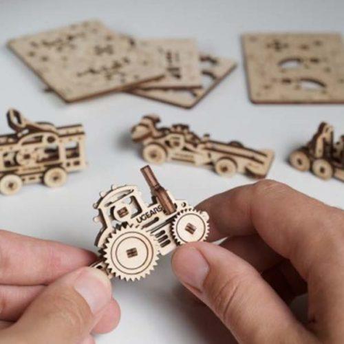 Деревянный 3D конструктор UGEARS Фиджет Транспорт-3