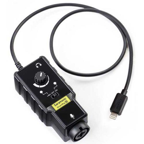 Микрофонный адаптер с XLR и гитарным входом Saramonic SmartRig Di для ipad iphone
