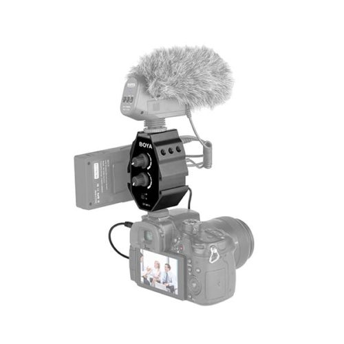 Микрофонный аудио микшер 2in 1out BOYA BY-MP4-4
