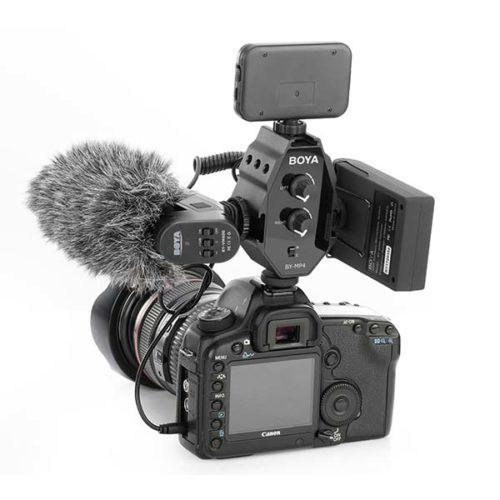 Микрофонный аудио микшер 2in 1out BOYA BY-MP4-5