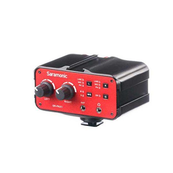 Микрофонный аудио микшер с фантомным питанием XLR Saramonic SR-PAX1