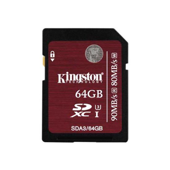 Карта Памяти SDXC 64Gb Kingston Class 10 UHS-I U3 (90/80 MB/s)