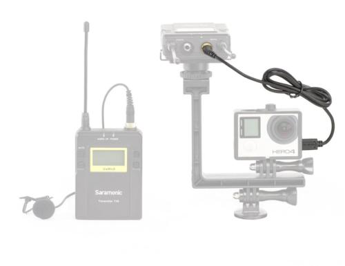 Переходник GoPro 3 GoPro 4 miniUSB s-jack 3.5 Saramonic SR-GMC1