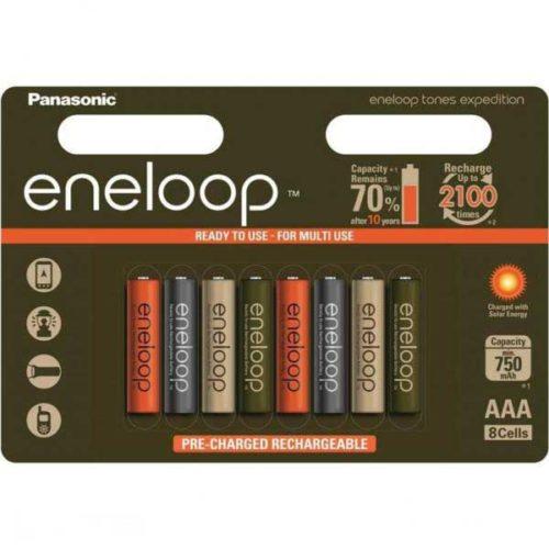 Аккумуляторы Panasonic Eneloop Expedition Colors AAA 750 mAh 8 шт