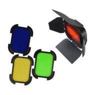 Шторки с цветными фильтрами и сотами GODOX BD-07 для AD200