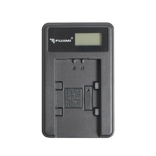 Зарядное устройство для LP-E5 (ЖК дисплей) FUJIMI FJ-UNC-LPE5