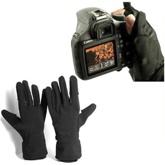 Перчатки фотографа с логотипом Canon