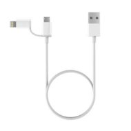 Кабель Xiaomi 2 в 1 Apple lightning + microUSB