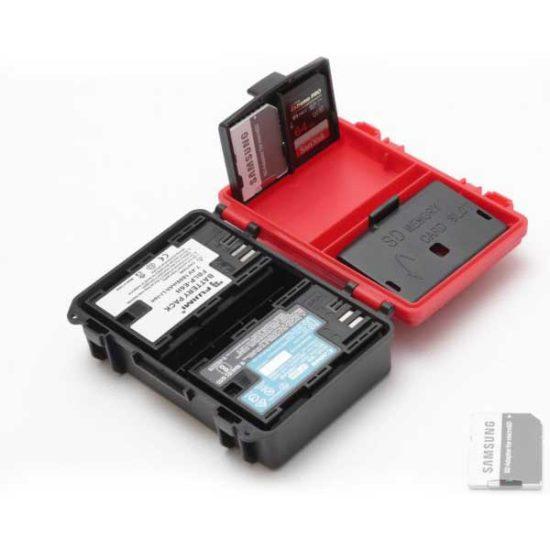 Универсальный кейс для аккумуляторов и карт памяти 2 АКБ + 4 SD