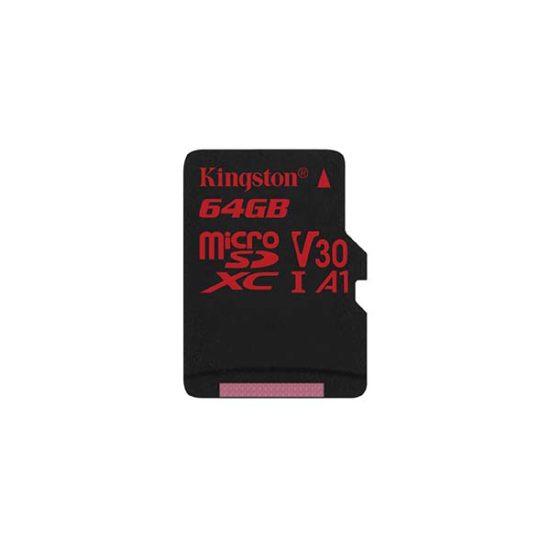 Карта памяти micro SDXC 64Gb Kingston Canvas React UHS-I U3 V30 A1 (100/80 Mb/s)