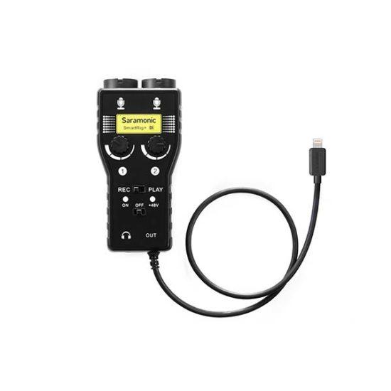 Микрофонный адаптер с 2 XLR и гитарным входом Saramonic SmartRig+ Di для ipad iphone