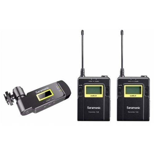 Петличная радиосистема UHF Saramonic UwMic9 TX9+TX9+RX-XLR9 (2TX+1RX) приемник с XLR входом