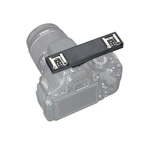 Двойной брекет на горячий башмак Wansen WS TTL для Canon