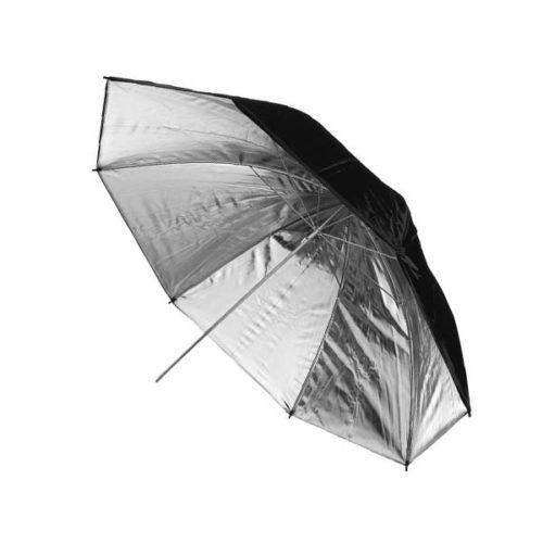 Зонт Hylow параболический 16 спиц 100 см серебро на отражение