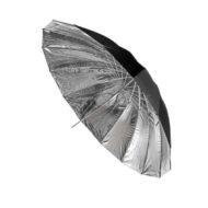 Зонт Hylow параболический 16 спиц 150 см серебро на отражение
