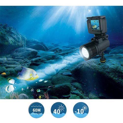 Осветитель LED для подводной съемки с креплением GoPRO XTGP460-6