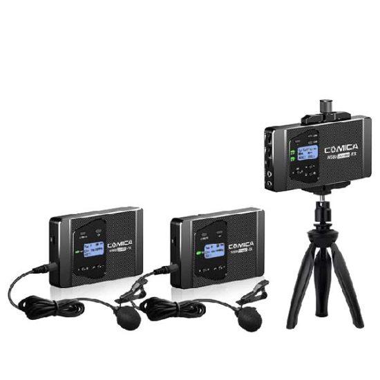 Петличная радиосистема COMICA UHF CVM-WS60 для смартфона (2 передатчика 1 приемник)