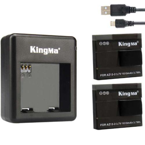 Комплект Kingma ЗУ для 2 аккумуляторов + 2 аккумулятора Xiaomi YI basic