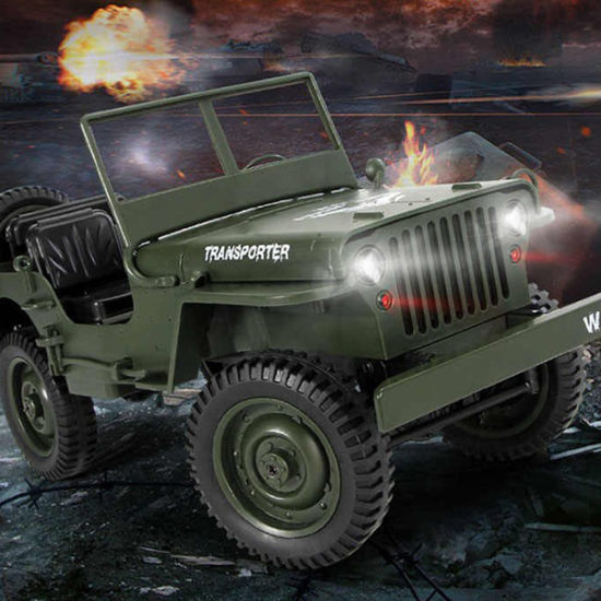 Military jeep Willys on radio control
