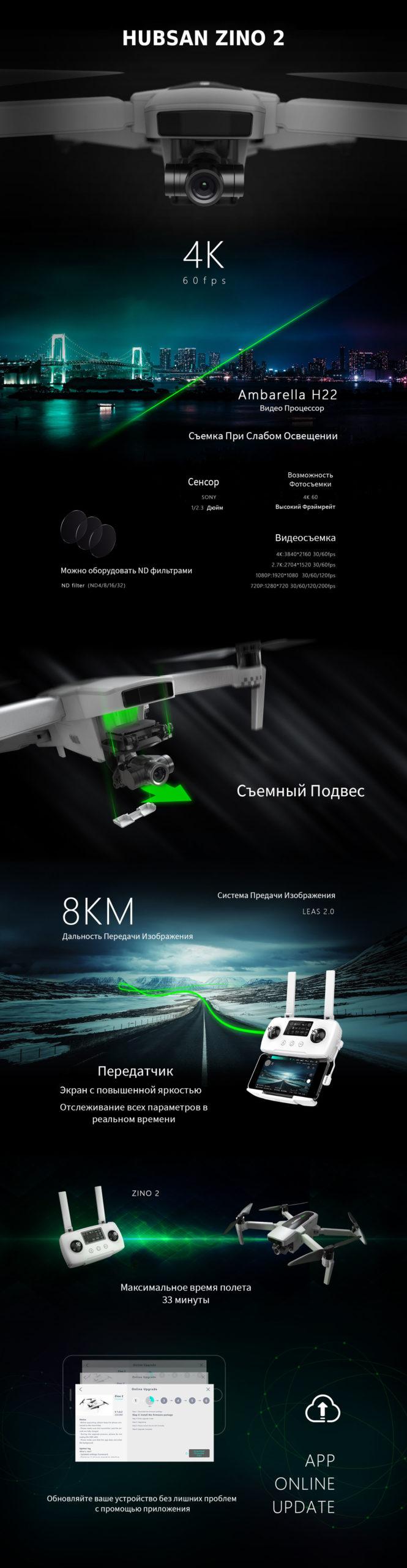 Квадрокоптер Hubsan Zino 2