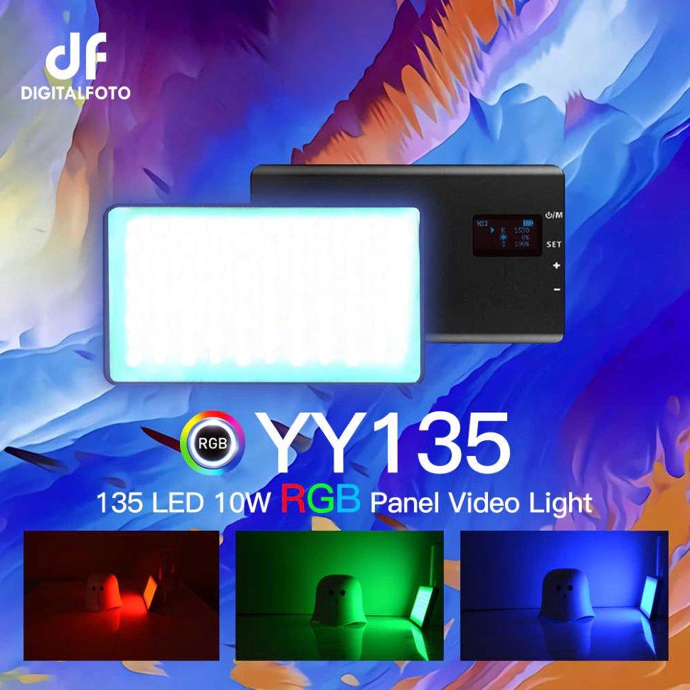 Осветитель DigitalFoto YY135 RGB 2500-8500K