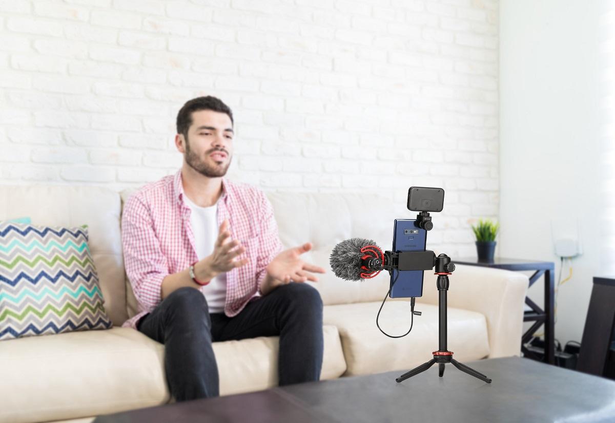 Кардиоидный микрофон BOYA BY-MM1+ для DSLR, смартфонов, PC