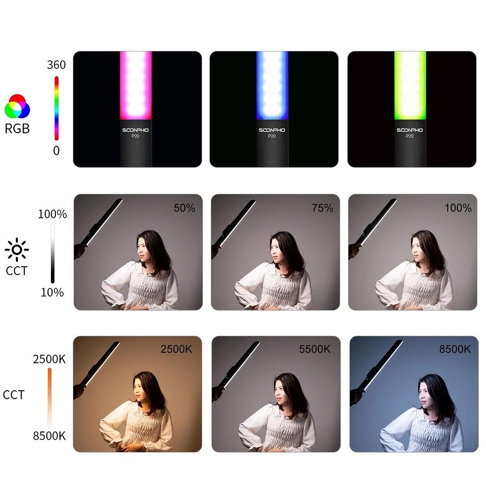 Ручной LED осветитель SOONPHO P20 RGB
